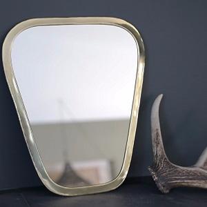 miroirs avec cadre en laiton couleur or. Black Bedroom Furniture Sets. Home Design Ideas